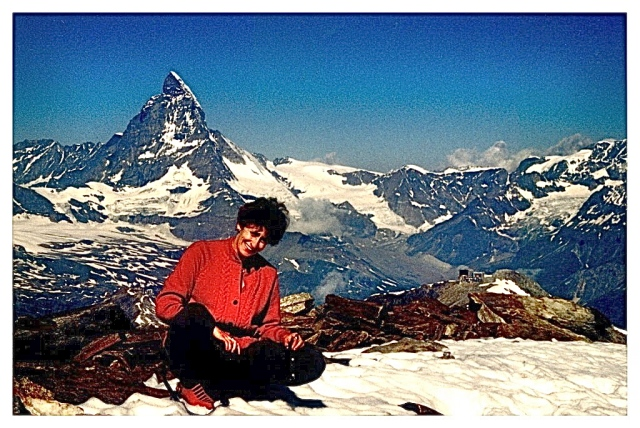 In Switzerland, Matterhorn in the background.